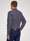 Рубашка принтованная приталенного силуэта oodji #SECTION_NAME# (синий), 3L110210M/19370N/7949G - вид 3