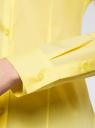 Рубашка приталенная с V-образным вырезом oodji #SECTION_NAME# (желтый), 11402092B/42083/6700N - вид 5