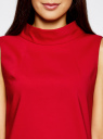 Платье без рукавов прямого кроя oodji #SECTION_NAME# (красный), 11900169/38269/4500N - вид 4
