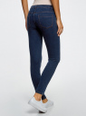 Джинсы slim базовые oodji для женщины (синий), 12104060B/45468/7900W
