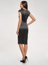 Платье-футляр с вырезом-лодочкой oodji для женщины (черный), 11902163-1/32700/2900N - вид 3