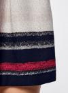 Юбка расклешенная с мягкими складками oodji #SECTION_NAME# (разноцветный), 11600391/43299/7920S - вид 5