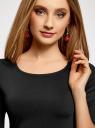 Платье трикотажное облегающего силуэта oodji #SECTION_NAME# (черный), 14001121-4B/46943/2900N - вид 4