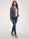 Куртка стеганая с круглым вырезом oodji #SECTION_NAME# (черный), 10204040-1B/42257/2919F - вид 6