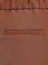 Брюки зауженные на эластичном поясе oodji для женщины (коричневый), 11703091B/18600/3903N