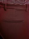 Брюки прямые с ремнем oodji для женщины (красный), 21707012/43138/4900N