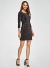 Платье с разноцветным люрексом oodji #SECTION_NAME# (черный), 73912219/45965/2900X - вид 6