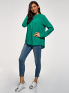 Блузка вискозная А-образного силуэта oodji #SECTION_NAME# (зеленый), 21411113-1B/48458/6D00N - вид 6