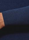 Джемпер базовый с круглым воротом oodji для мужчины (синий), 4B112003M/34390N/7902M - вид 5