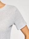 Футболка прямого силуэта с люрексом oodji для женщины (серый), 14701073/47571/2091X