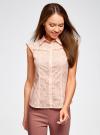 Блузка из ткани деворе oodji #SECTION_NAME# (розовый), 11405092-4/26528/4000N - вид 2