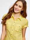 Рубашка базовая с коротким рукавом oodji #SECTION_NAME# (желтый), 11402084-5B/45510/5200N - вид 4
