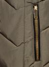 Куртка удлиненная с капюшоном oodji для женщины (зеленый), 20204047/45934/6800N - вид 5