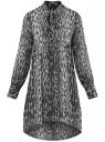 Платье шифоновое с асимметричным низом oodji #SECTION_NAME# (серый), 11913032/38375/2029A
