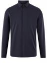 Рубашка базовая хлопковая oodji для мужчины (синий), 3B110017M-2/48420N/7901N