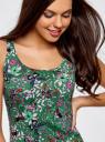 Платье-майка трикотажное oodji #SECTION_NAME# (зеленый), 14015007-3B/37809/6241U - вид 4