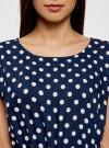 Платье принтованное из вискозы oodji #SECTION_NAME# (синий), 11910073-2/45470/7912D - вид 4