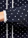 Блузка прямого силуэта с завязками oodji #SECTION_NAME# (синий), 11401267/42405/7912G - вид 5