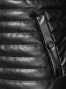 Куртка-бомбер из искусственной кожи oodji для мужчины (черный), 1L511053M/50427/2900N