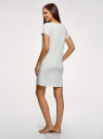 Платье домашнее с принтом oodji #SECTION_NAME# (белый), 59801006-21/46154/1260P - вид 3