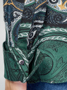 Блузка свободного силуэта с декоративными отстрочками на груди oodji #SECTION_NAME# (зеленый), 21411110/42549/6975E - вид 5