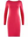 Платье трикотажное облегающего силуэта oodji #SECTION_NAME# (розовый), 14001183B/46148/4D00N