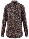 Блузка с нагрудными карманами и регулировкой длины рукава oodji #SECTION_NAME# (черный), 11400355-8B/48458/2919F