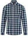 Рубашка хлопковая с длинным рукавом oodji #SECTION_NAME# (синий), 3L310197M/50176N/7962C