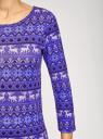 Платье трикотажное с вырезом-капелькой на спине oodji #SECTION_NAME# (фиолетовый), 24001070-5/15640/7512E - вид 5