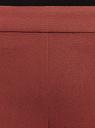 Брюки зауженные с молнией на боку oodji #SECTION_NAME# (коричневый), 21706022-5B/35589/4900N - вид 4