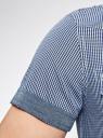 Рубашка с коротким рукавом и нагрудными карманами oodji #SECTION_NAME# (синий), 3L410072M/44182N/1075C - вид 5