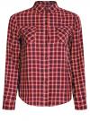 Рубашка в клетку с карманами oodji #SECTION_NAME# (красный), 11400433-1/43223/4529C