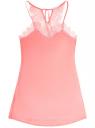 Ночная сорочка из микрофибры с кружевной отделкой oodji #SECTION_NAME# (розовый), 55902130/42303/4100N
