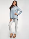 Рубашка джинсовая с вышивкой oodji #SECTION_NAME# (синий), 16A09009/42706/7000P - вид 6