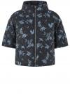 Куртка стеганая принтованная oodji #SECTION_NAME# (черный), 10207002-1/45419/2970F