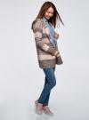 Кардиган полосатый с капюшоном oodji для женщины (розовый), 63205244/46133/4A37S - вид 6