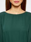 Платье из шифона с ремнем oodji для женщины (зеленый), 11900150-5B/32823/6900N - вид 4