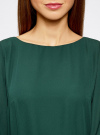 Платье из шифона с ремнем oodji #SECTION_NAME# (зеленый), 11900150-5B/32823/6900N - вид 4