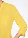 Блузка вискозная с рукавом-трансформером 3/4 oodji #SECTION_NAME# (желтый), 11403189-2B/26346/5100N - вид 5