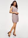 Платье вискозное без рукавов oodji #SECTION_NAME# (серый), 11910073B/26346/2300N - вид 6