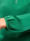 Блузка свободного кроя с вырезом-капелькой oodji #SECTION_NAME# (зеленый), 21400321-2/33116/6E00N - вид 5