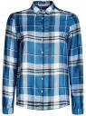 Блузка принтованная из вискозы oodji #SECTION_NAME# (синий), 11411098-4/45208/7410C