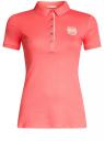 Поло с металлическими пуговицами и вышивкой на груди oodji #SECTION_NAME# (розовый), 29311001/39813N/4D00N