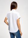 Рубашка прямого силуэта с коротким рукавом oodji #SECTION_NAME# (белый), 13L11021/49224/1000N - вид 3