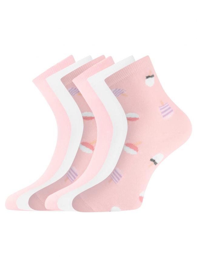 Комплект из шести пар носков oodji для женщины (разноцветный), 57102466T6/47469/18