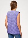 Блузка вискозная с нагрудными карманами oodji #SECTION_NAME# (фиолетовый), 21412132-5B/24681/8012S - вид 3