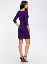 Платье трикотажное базовое oodji #SECTION_NAME# (фиолетовый), 14001071-2B/46148/8800N - вид 3