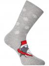 Комплект из шести пар хлопковых носков oodji #SECTION_NAME# (разноцветный), 57102902-4T6/10231/12