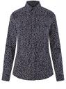 Рубашка приталенная с нагрудными карманами oodji #SECTION_NAME# (синий), 13L12001B/43609/7912O