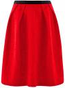Юбка кружевная с декоративным поясом-резинкой oodji #SECTION_NAME# (красный), 21600297-1/43561/4500L